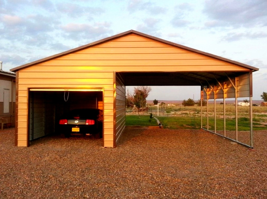 Carports garages storage lean to for Carport ou garage